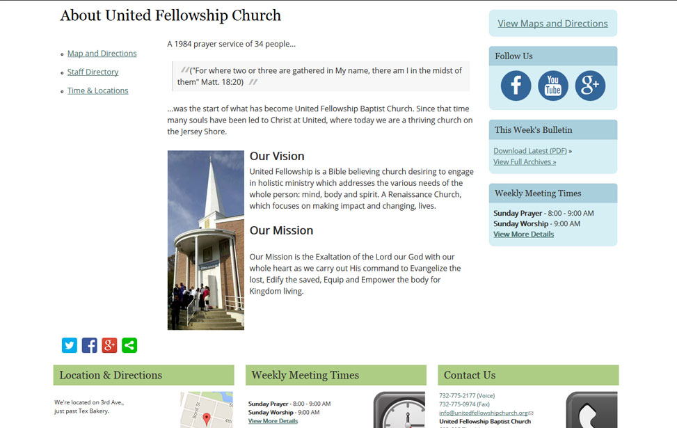 United Fellowship Baptist Church project image
